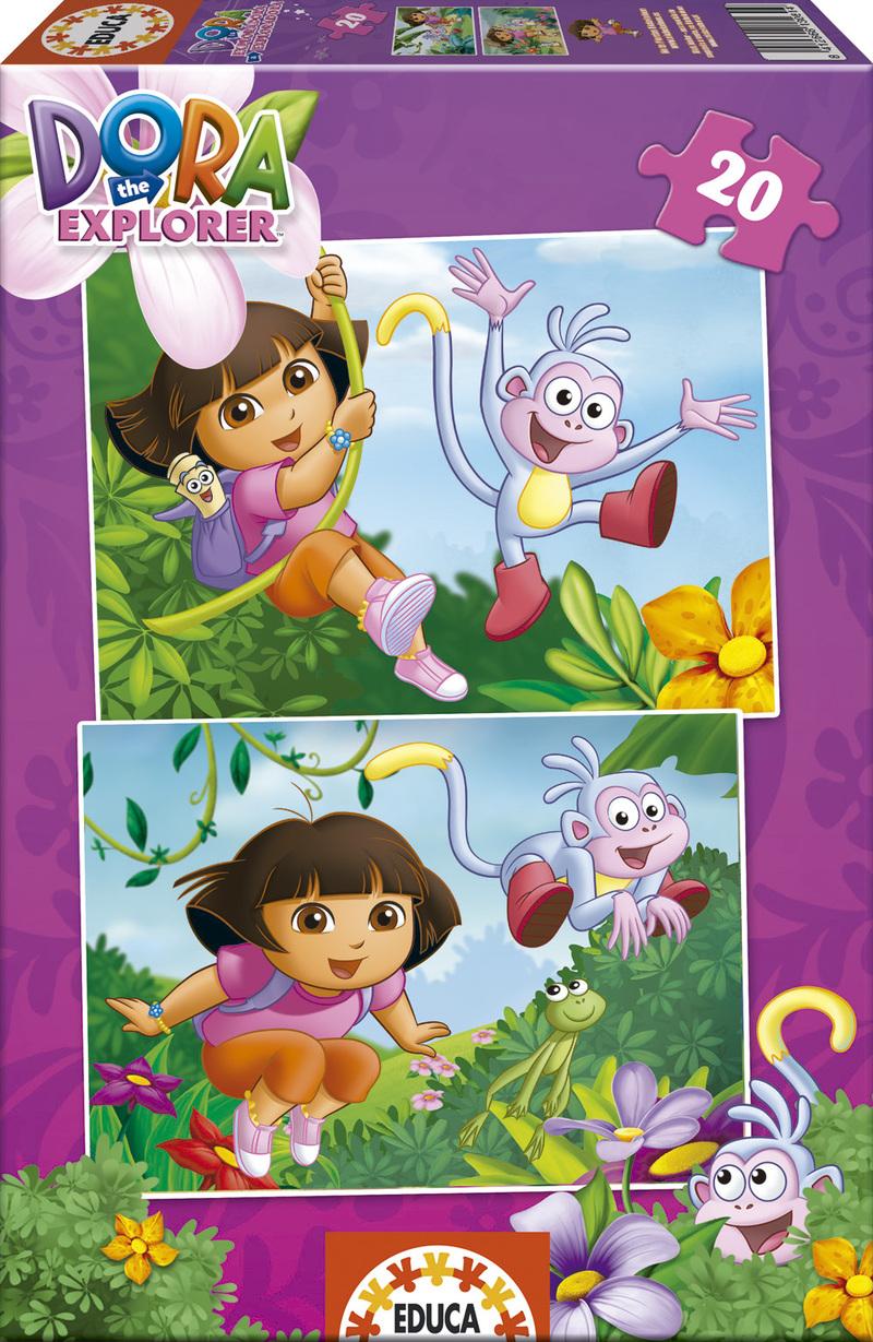 Puzzle Educa Dora Exploradora  2 x 20 Piezas