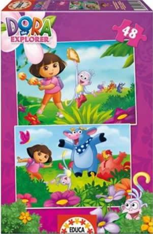 Puzzle Educa Dora Exploradora  2 x 48 Piezas
