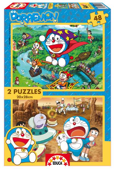 Puzzle Educa Doraemon 2 x 48 Piezas