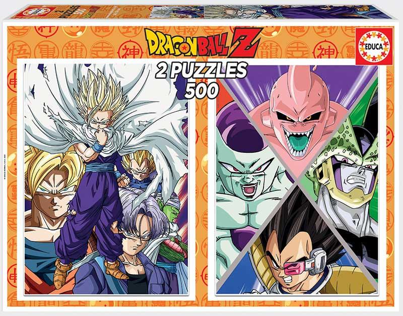 Puzzle Educa Dragon Ball Z de 2 x 500 Piezas