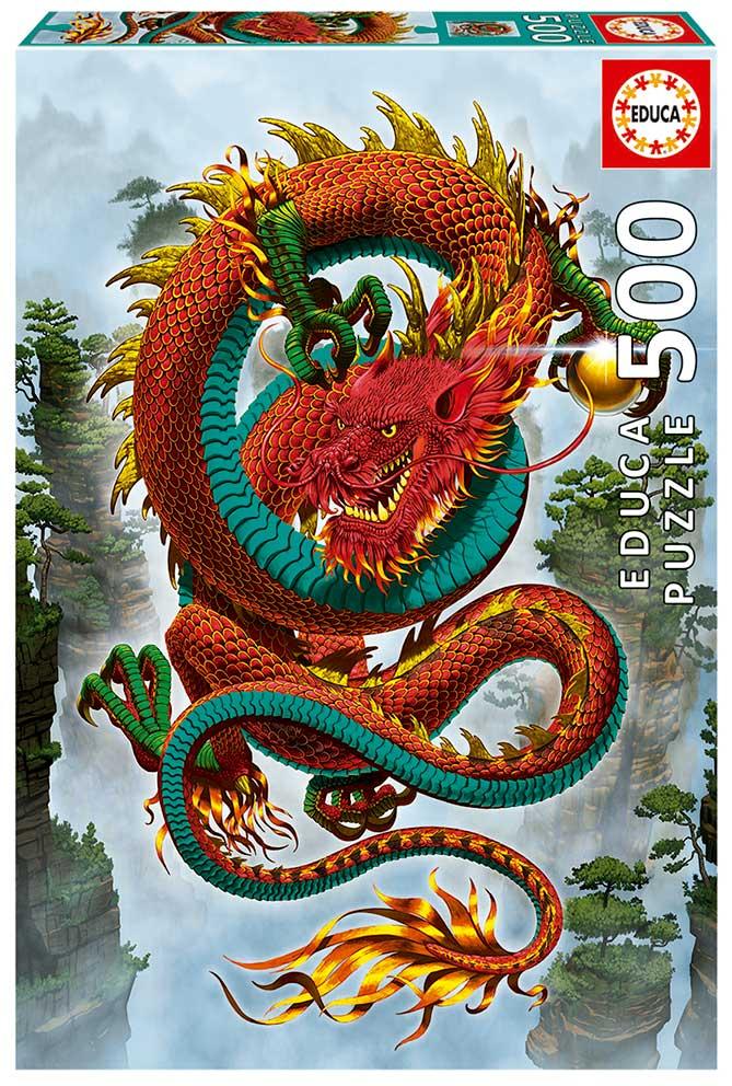 Puzzle Educa Dragón de la Buena Fortuna 500 Piezas