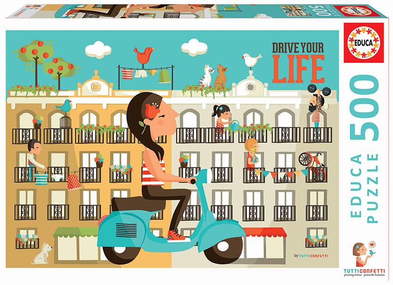 Puzzle Educa Drive your Life de 500 Piezas