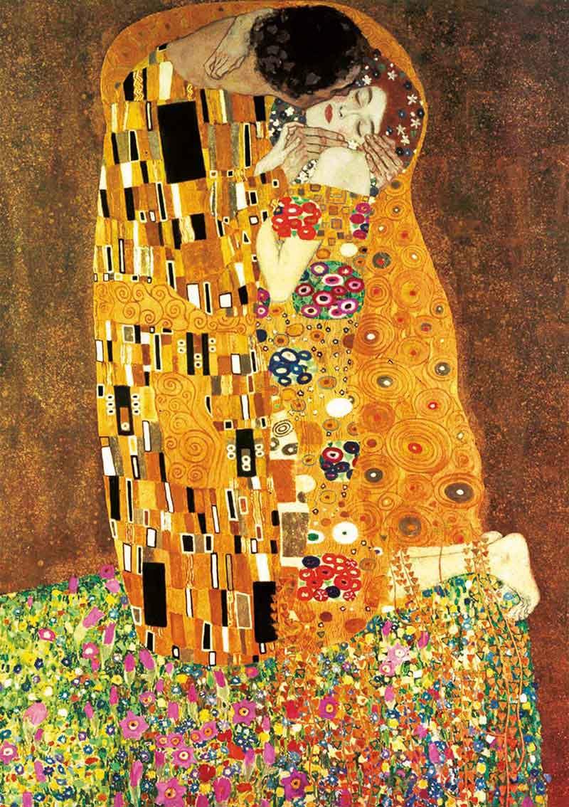Puzzle Educa El Beso y La Virgen, Gustav Klimt de 2x1000 Pzs