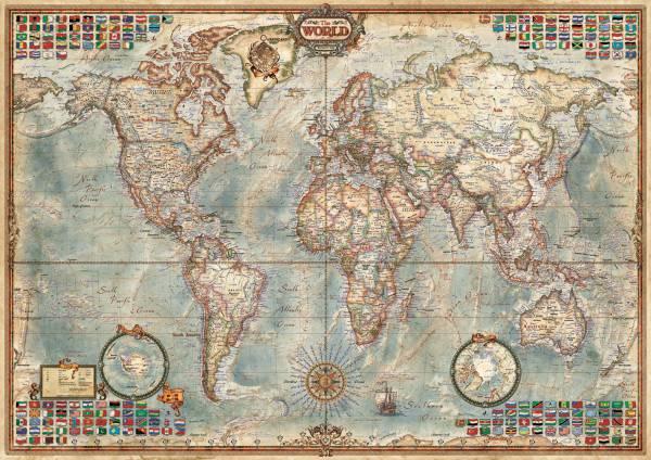 Puzzle Educa El Mundo, Mapa Político de 1500 Piezas
