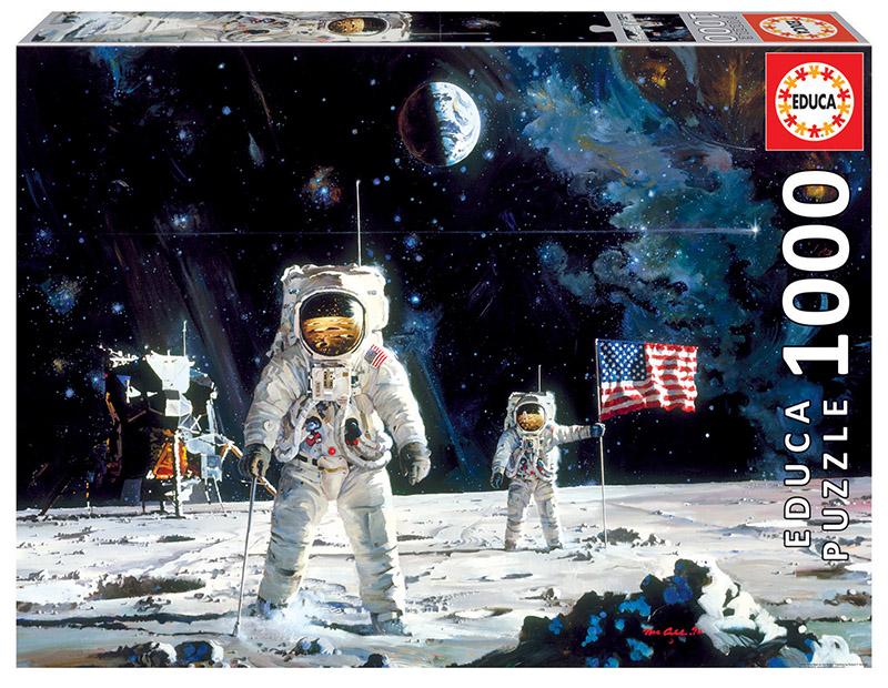Puzzle Educa El Primer Hombre en la Luna de 1000 Piezas