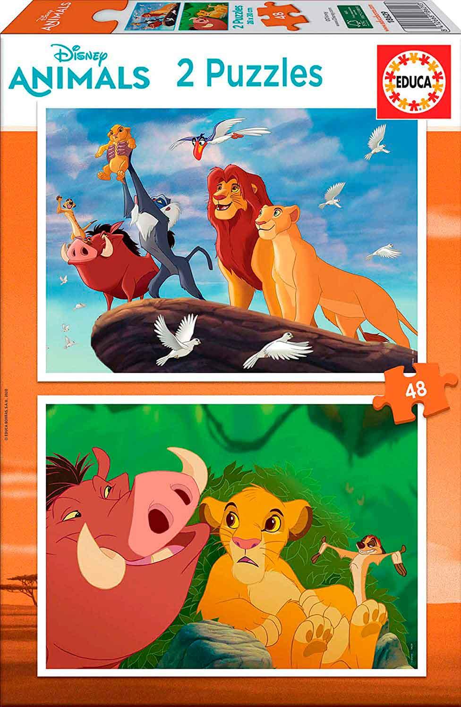 Puzzle Educa El Rey León de 2 x 48 Piezas