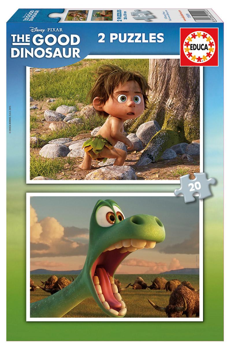 Puzzle Educa El Viaje de Arlo, Good Dinosaur 2 x 20 Piezas