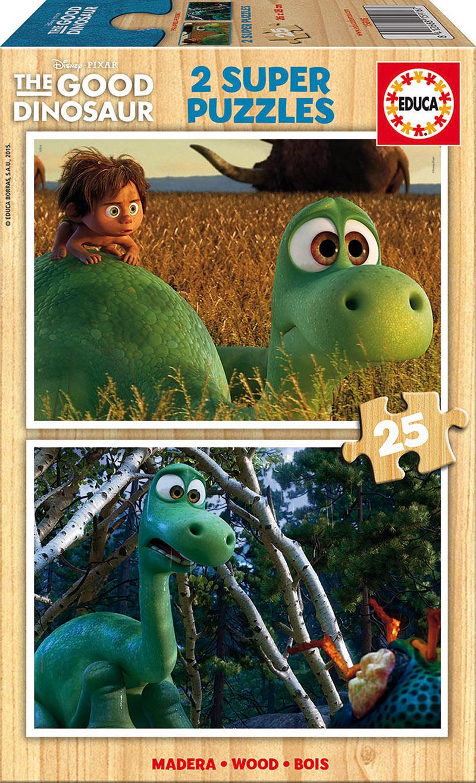 Puzzle Educa El Viaje de Arlo, Good Dinosaur 2 x 25 Piezas