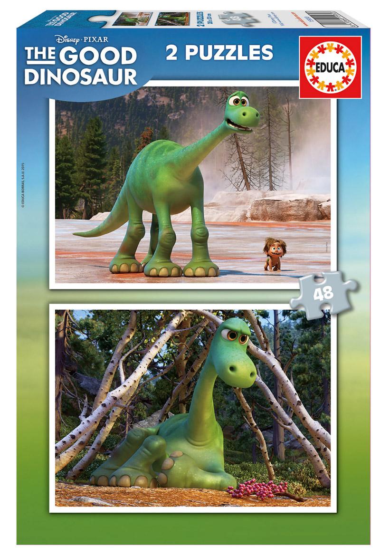 Puzzle Educa El Viaje de Arlo, Good Dinosaur 2 x 48  Piezas