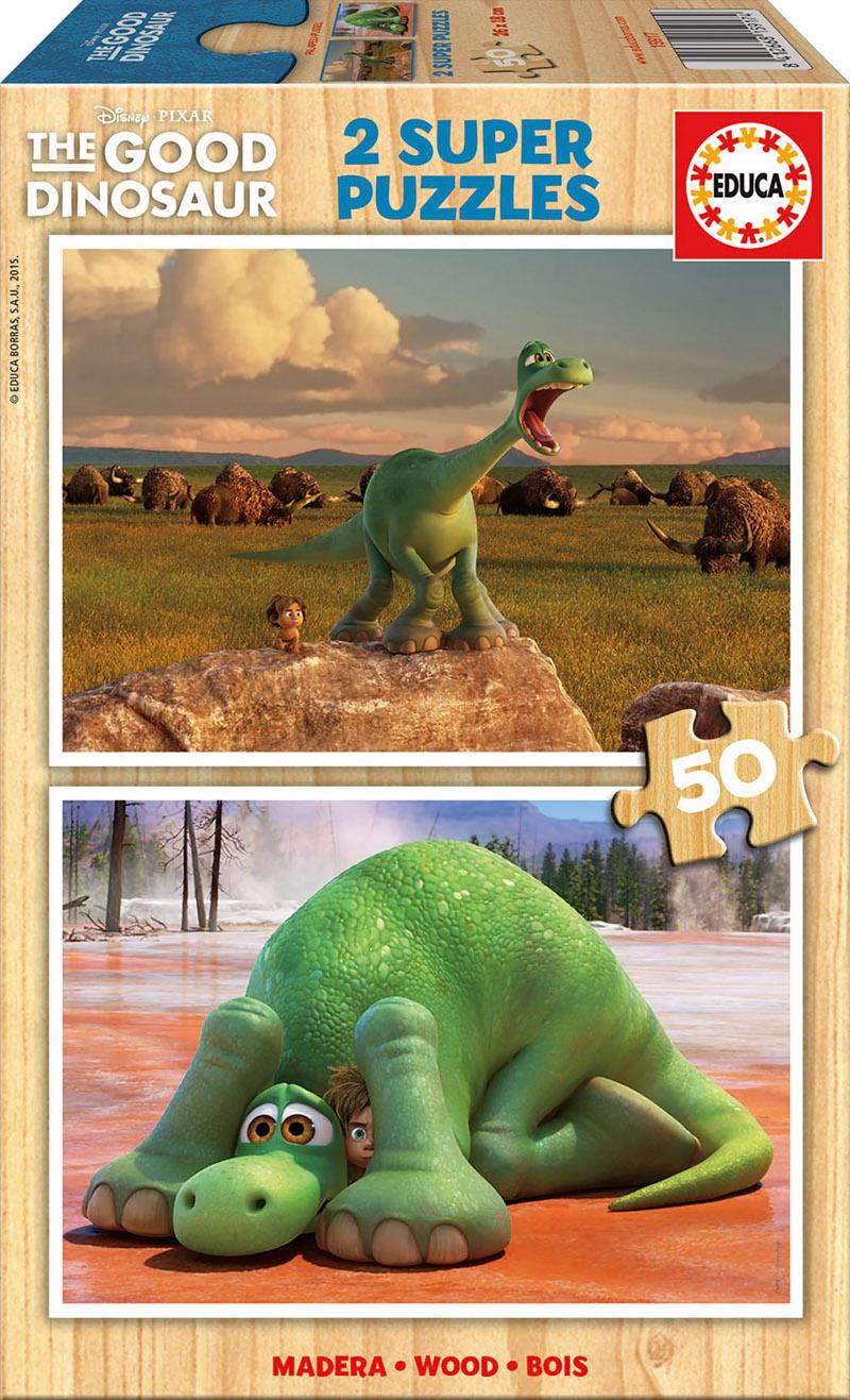 Puzzle Educa El Viaje de Arlo, Good Dinosaur 2 x 50 Piezas