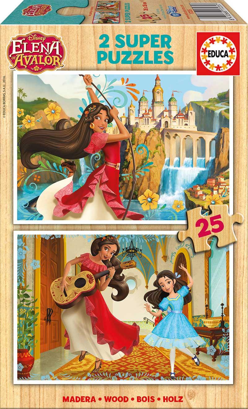 Puzzle Educa Elena de Avalor de 2 x 25 Piezas Madera