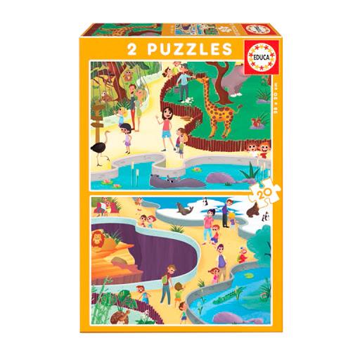 Puzzle Educa En El Zoo de 2 x 20 Piezas