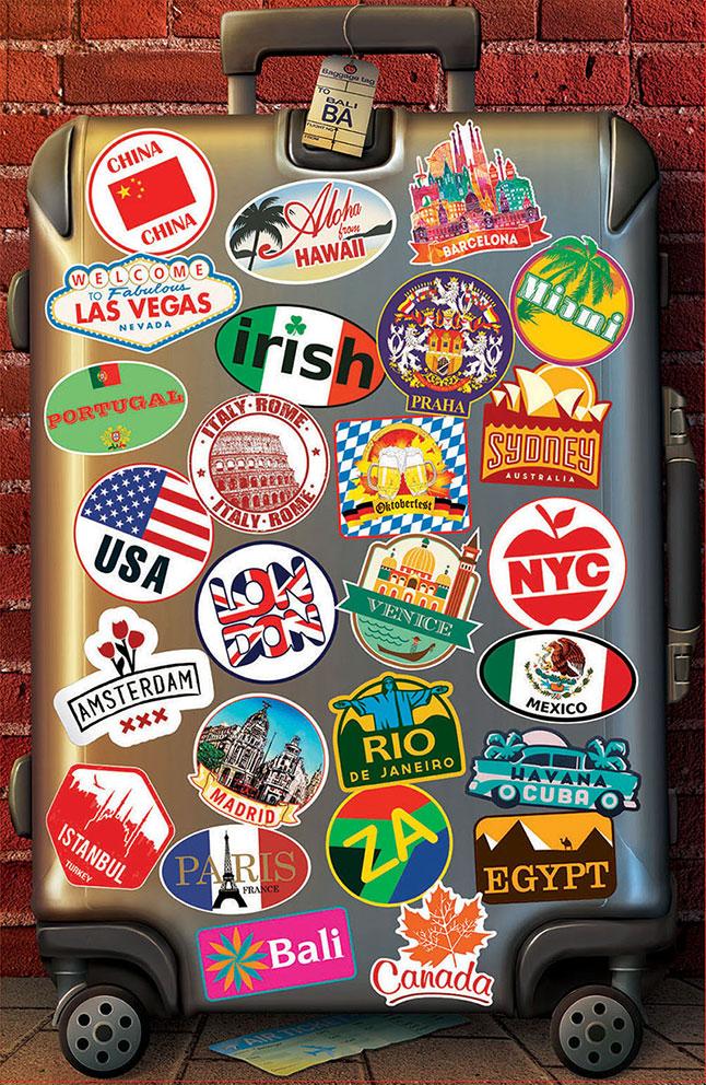 Puzzle Educa Enamorado de Viajar, Piezas Miniaturas 1000 Piezas