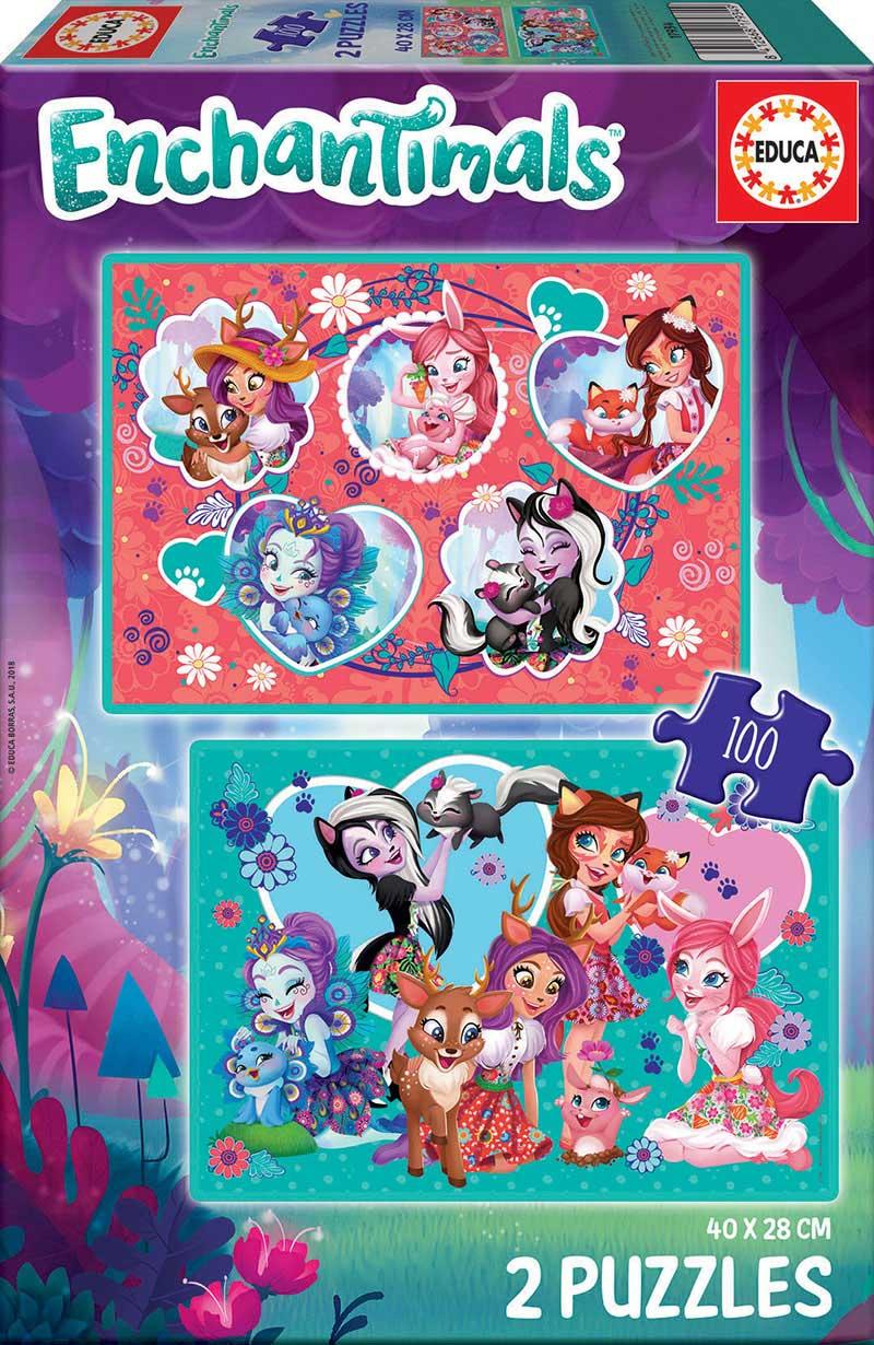 Puzzle Educa Enchantimals 2 x 100 Piezas