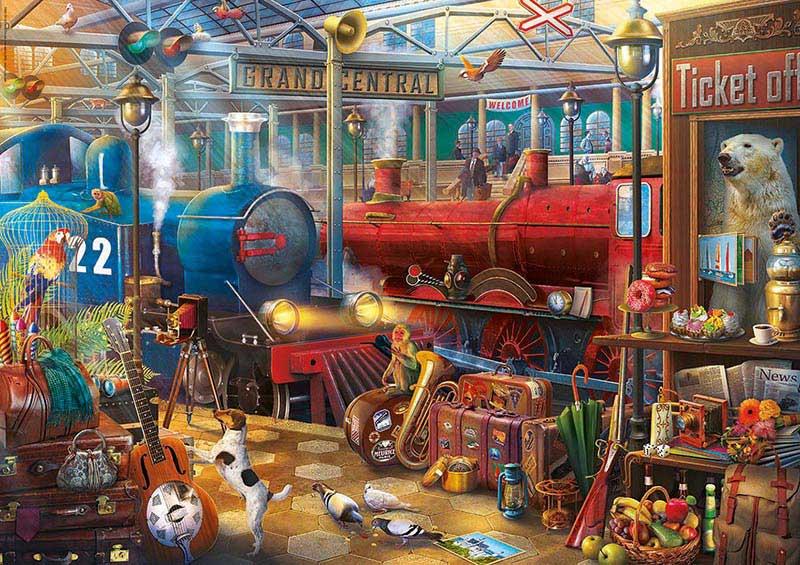 Puzzle Educa Enigmatic Estación de Tren de 500 Piezas