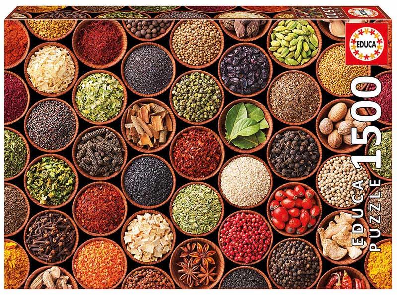 Puzzle Educa Especias y Condimentos de 1500 Piezas