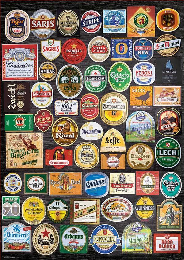 Puzzle Educa Etiquetas de Cervezas de 1500 Piezas