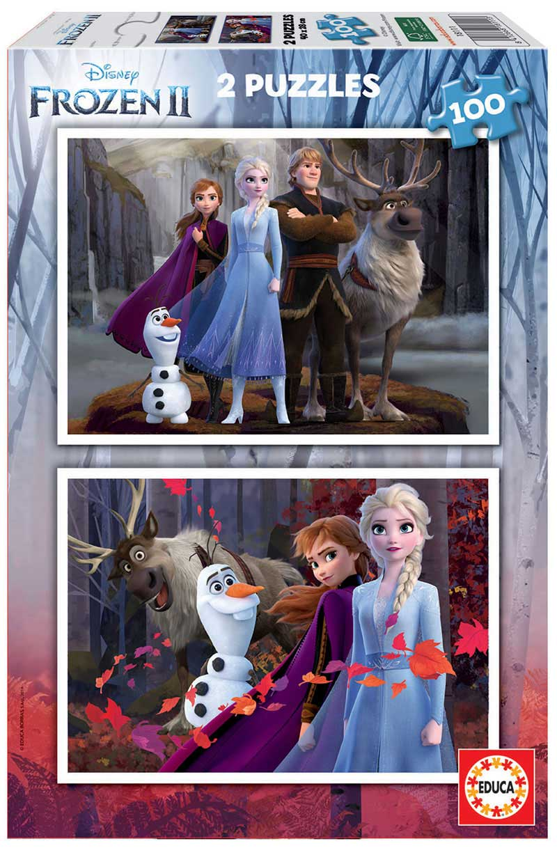 Puzzle Educa Frozen 2 de 2 x 100 Piezas