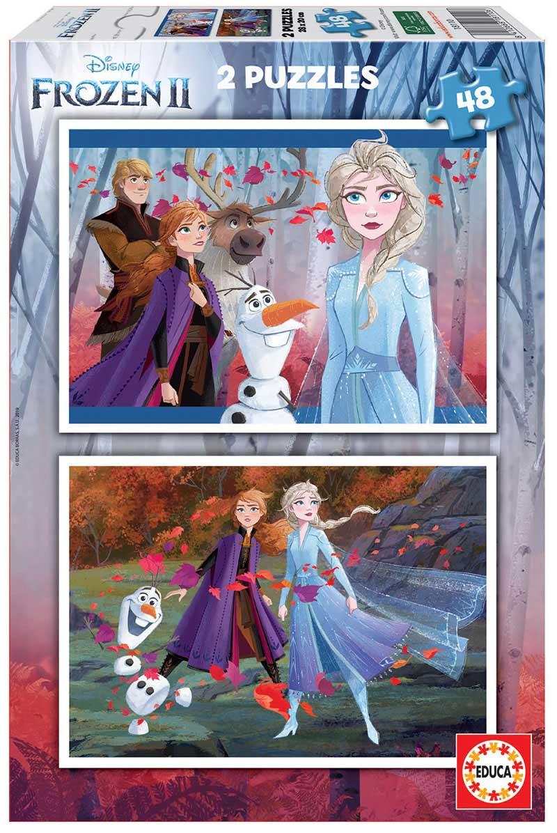 Puzzle Educa Frozen 2 de 2 x 48 Piezas