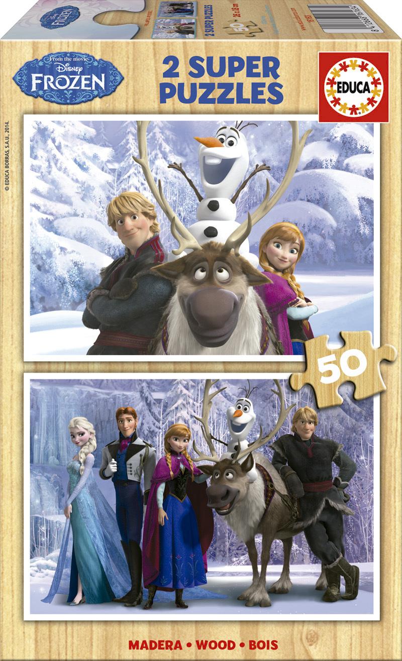 Puzzle Educa Frozen  2 x 50 Piezas