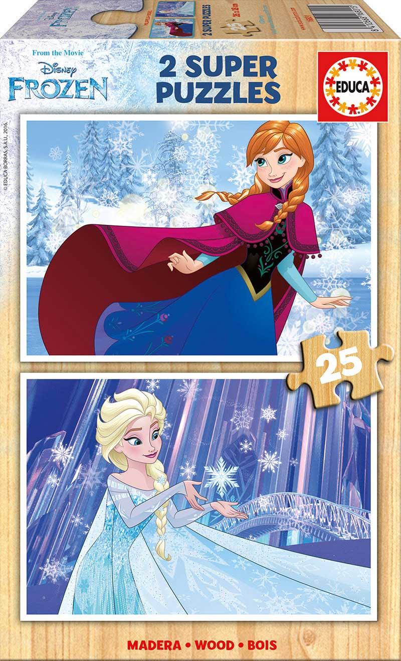 Puzzle Educa Frozen 2 x 25 Piezas Madera