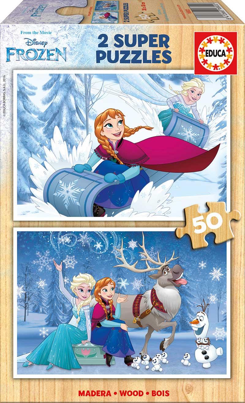 Puzzle Educa Frozen 2 x 50 Piezas Madera