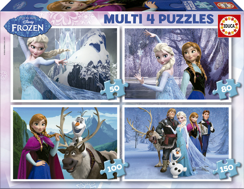 Puzzle Educa Frozen Multi Progresivo 50+80+100+150