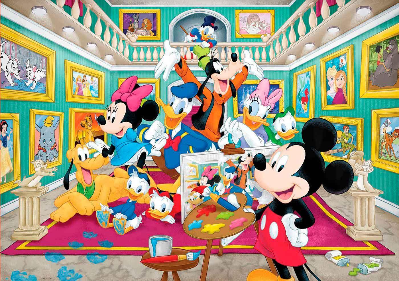 Puzzle Educa Galería de Arte de Mickey de 1000 Piezas