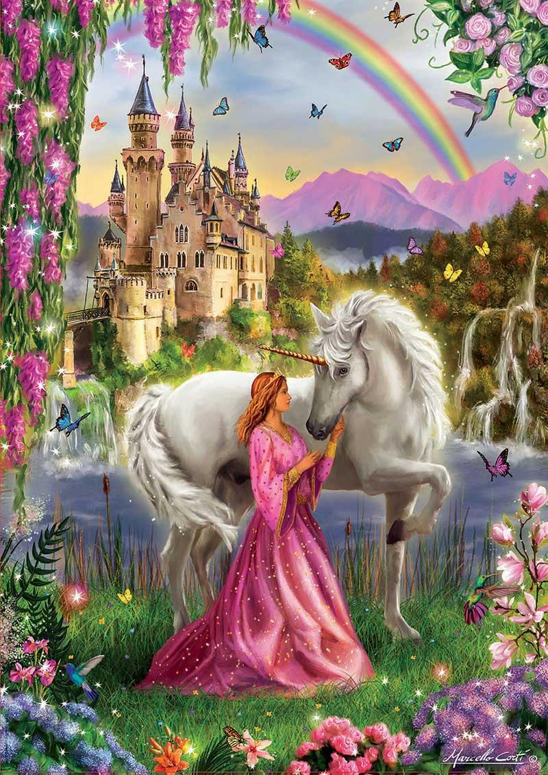 Puzzle Educa Hada y Unicornio de 500 Piezas