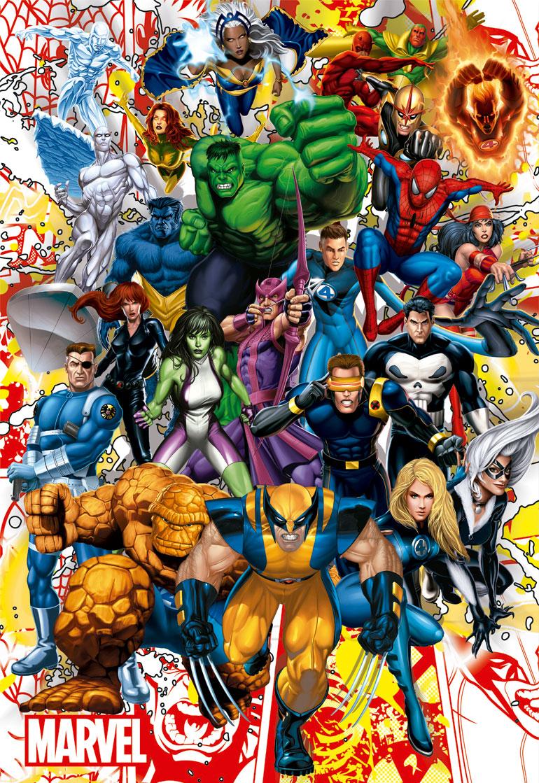 Puzzle Educa Héroes Marvel de 500 Piezas