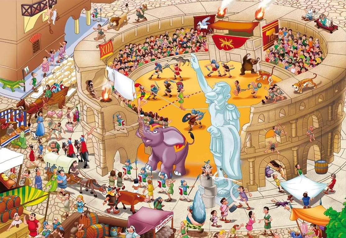 Puzzle Educa Historias de la Historia, Antigua Roma de 1000 Piez