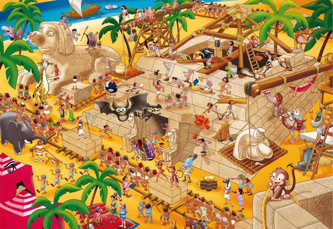 Puzzle Educa Historias de la Historia, Antiguo Egipto de 1000 Pi