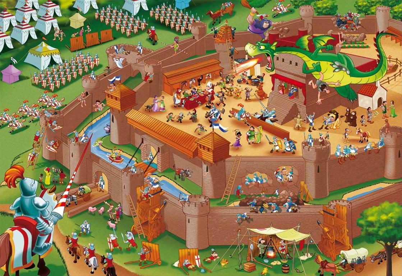 Puzzle Educa Historias de la Historia, La Edad Media de 1000 Pie