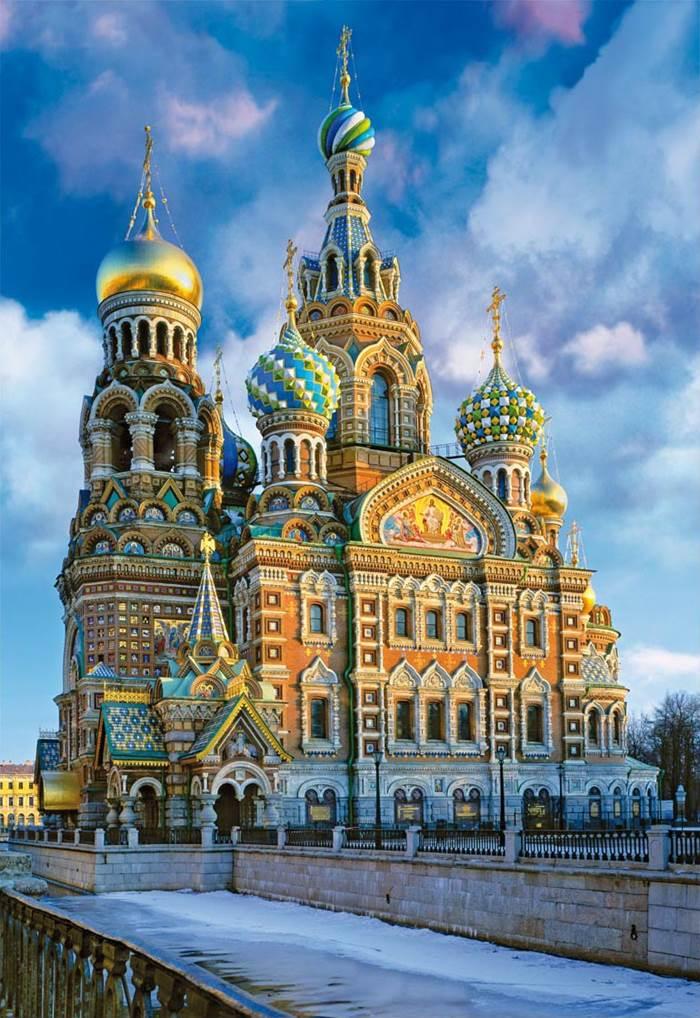 Puzzle Educa Iglesia Resurrección, Moscú de 1000 Piezas