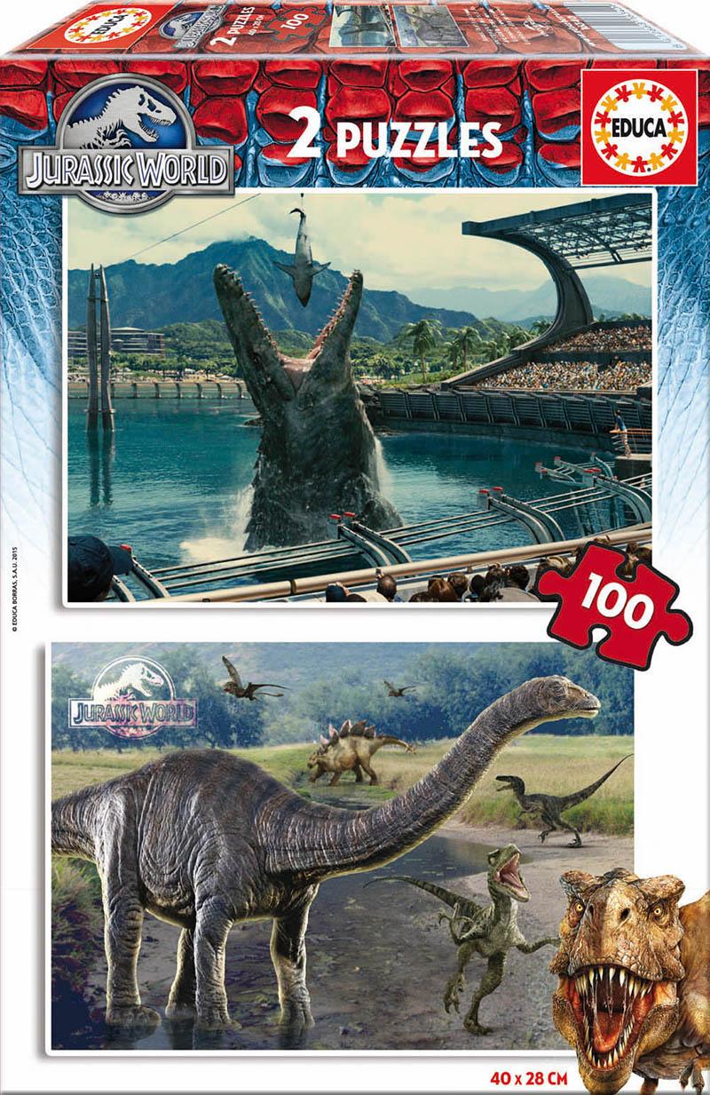 Puzzle Educa Jurassic World 2 x 100 Piezas