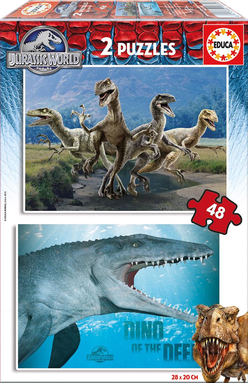 Puzzle Educa Jurassic World 2 x 48 Piezas