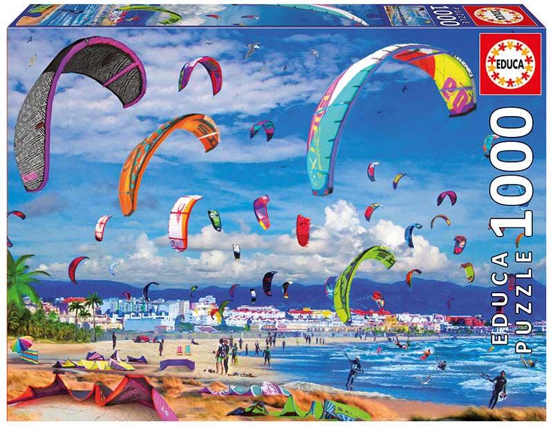 Puzzle Educa KiteSurfing de 1000 Piezas