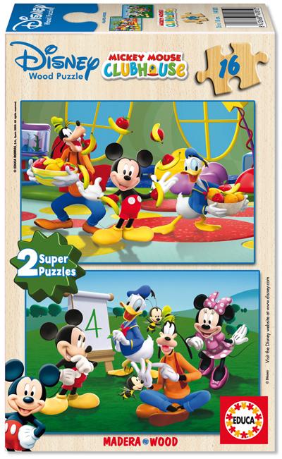 Puzzle Educa La Casa de Mickey Mouse 2 x 16 Piezas