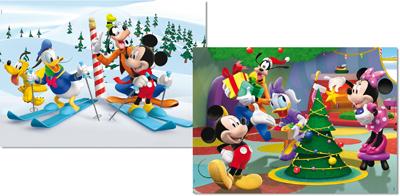 Puzzle Educa La Casa de Mickey Mouse 2 x 48 Piezas