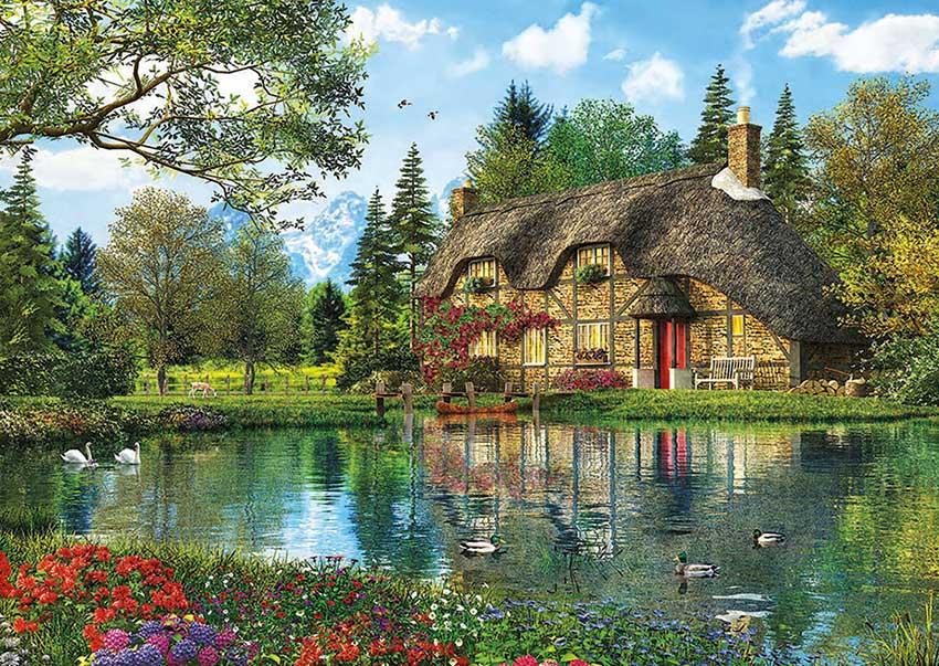 Puzzle Educa La Casa del Lago de 2000 Piezas