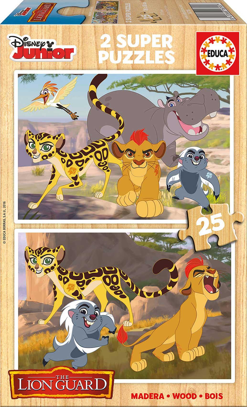 Puzzle Educa La Guardia del León, Rey León 2 x 25 Piezas