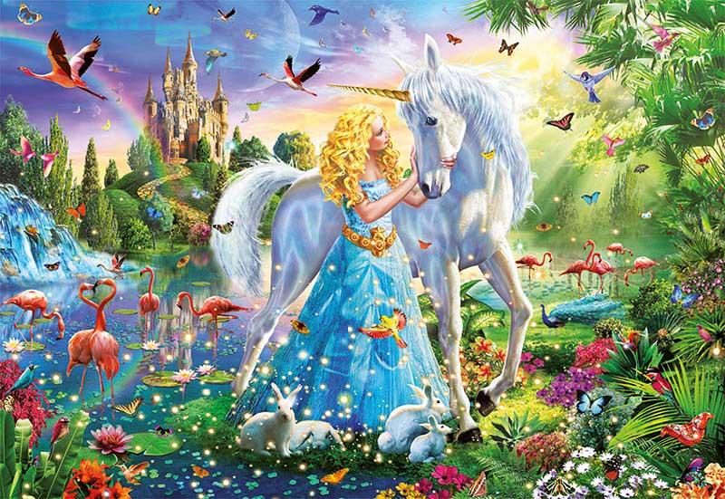 Puzzle Educa La Princesa y el Unicornio de 1000 Piezas