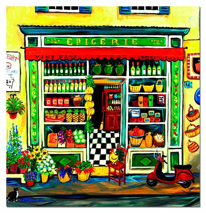 Puzzle Educa La Tienda de Comestibles de 1000 Piezas