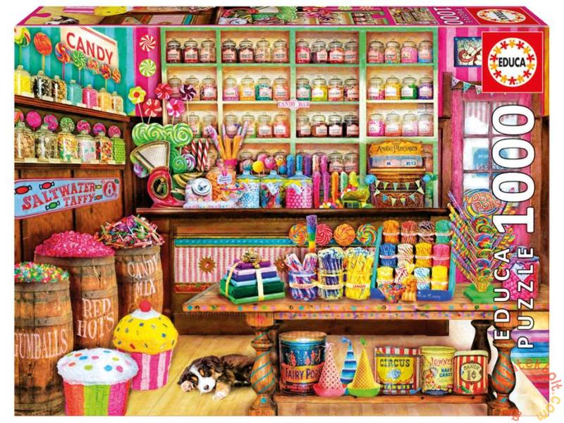 Puzzle Educa La Tienda de Dulces de 1000 Piezas