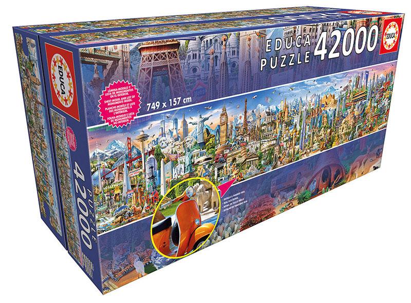 Puzzle Educa La Vuelta al Mundo 42000 Piezas