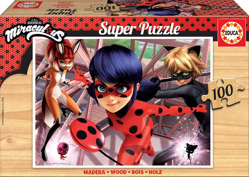 Puzzle Educa Ladybug de 100 Piezas Madera