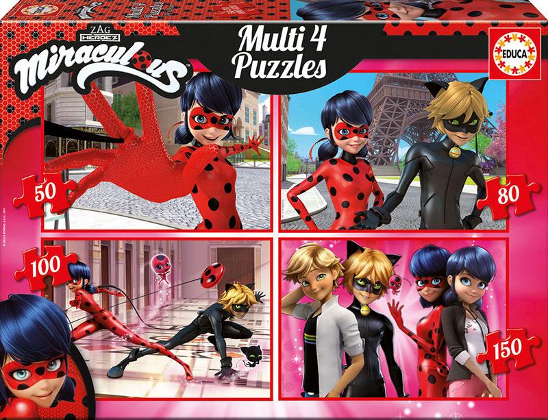 Puzzle Educa Ladybug Multi Progresivo 50+80+100+150 pzs