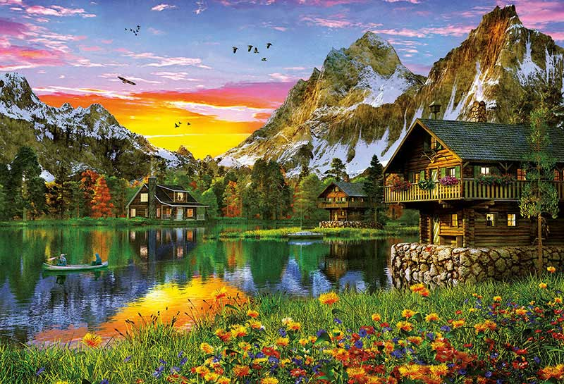 Puzzle Educa Lago Alpino de 5000 Piezas
