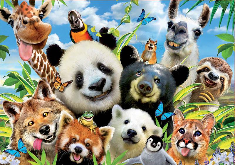 Puzzle Educa Llama Drama Selfie de 1000 Piezas