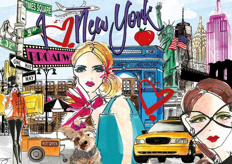 Puzzle Educa Llévame a Nueva York de 500 Piezas